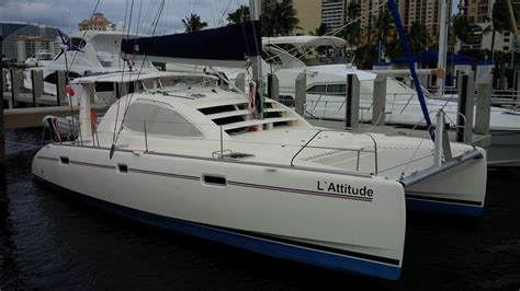 Catamaran 40ft Engine by L Attitude Catamaran For Sale Leopard 40 In Fort Lauderdale