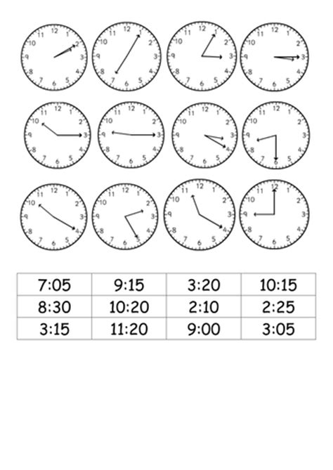 Time Worksheets » Time Worksheets Match Digital And Analogue  Free Printable Worksheets For Pre