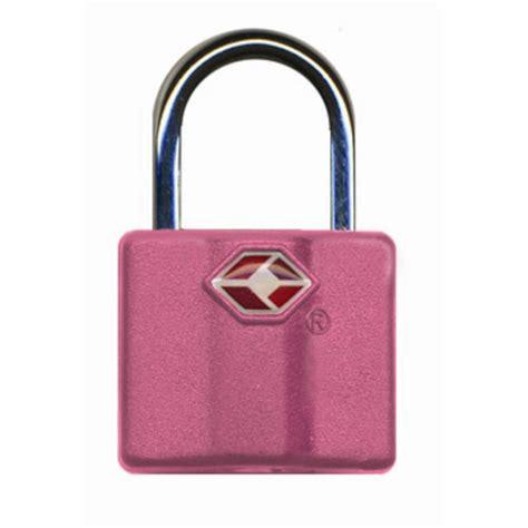 tsa travel lock pink staples 174