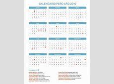 Calendario Perú Año 2019 Feriados