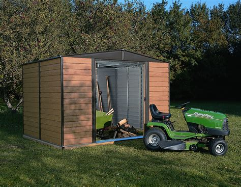 arrow wr1012 woodridge 10 x 12 steel storage shed