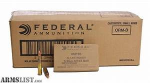 ARMSLIST - For Sale: 5,000 Rounds Federal XM193, 5.56, 55 ...