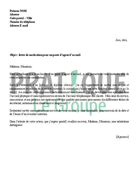 lettre de motivation pour un emploi d d accueil pratique fr