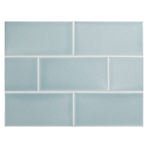 vermeere ceramic tile blue crackle 3 quot x 6 quot subway tile