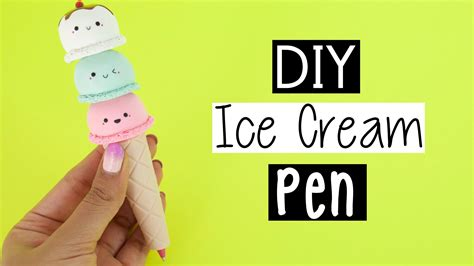 Nim C Home Decor : Diy Ice Cream Cone Pen