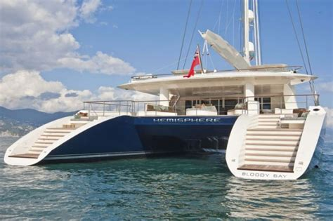 Biggest Boat Manufacturers In The World by Yacht Charter Aboard World S Largest Catamaran Hemisphere