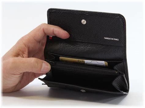 porte monnaie en cuir noir pour homme ou femme porte monnaie cuir 296