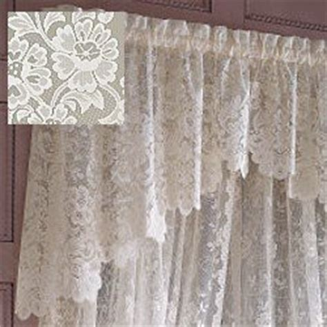 jc penney shari lace shaped valance home kitchen
