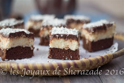 brownies noix de coco chocolat les joyaux de sherazade