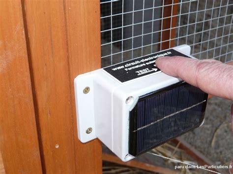 porte automatique solaire pour poulailler animaux jura