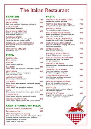 9 best images of free printable italian menus italian picnic menu ideas restaurant menu