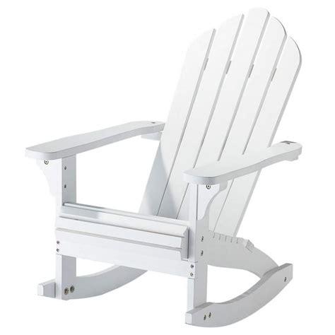 fauteuil 224 bascule enfant en bois massif blanc cape cod maisons du monde
