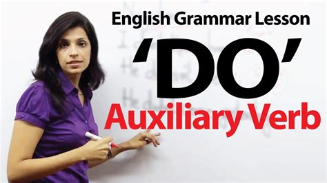 "English Grammar Lessons  Auxiliary Verb  'do"" Youtube"