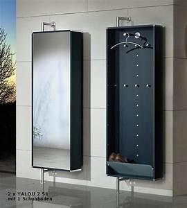 Kleiderstange An Wand : drehbare wand garderobe mit spiegel 1 schuhboden satiniertes glas 6 kleiderhaken und 1 ~ Markanthonyermac.com Haus und Dekorationen