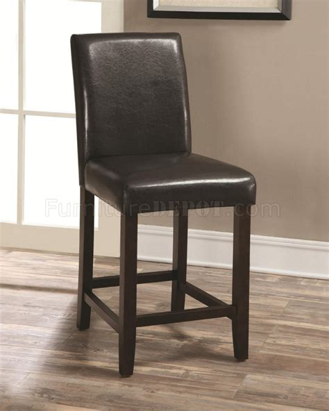 130059 counter height chair set of 4 in brown by coaster