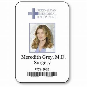 MEREDITH GREY NAME BADGE HALLOWEEN COSTUME GREYS ANATOMY ...