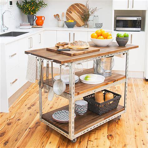 Home Dzine Kitchen  Diy Mobile Kitchen Island Or Workstation