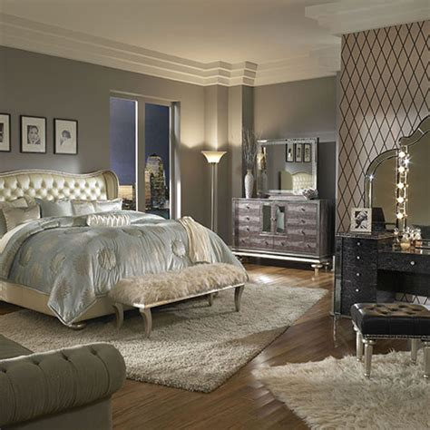 Michael Amini Bedroom Set by My Bedroom Furniture Swank Bedroom