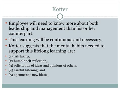 Kotter Suggests That Leadership And Management by Leading Change Presentation Hay