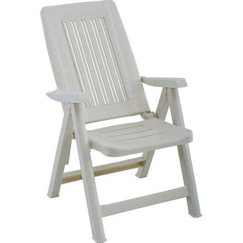 fauteuil de jardin blanc multipositions en r 233 sine trigano store