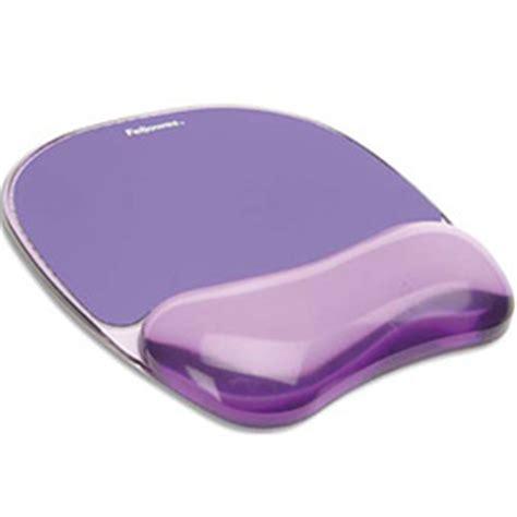 tapis de souris repose poignets gel fellowes violet achat pas cher