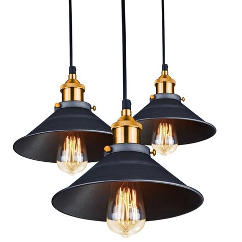 Arrow Vintage Urban 3 Light Ceiling Pendant Light With
