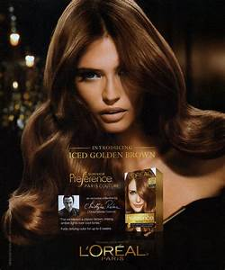 Bianca Balti for L'Oreal Preference 5CG Iced Golden Brown ...