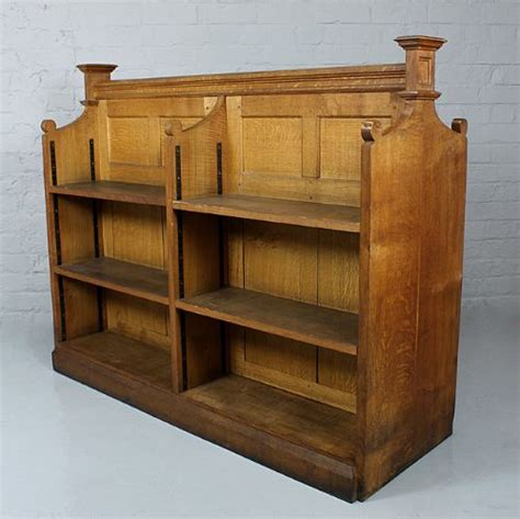 Double Sided Oak Bookcase  227631 Sellingantiquescouk