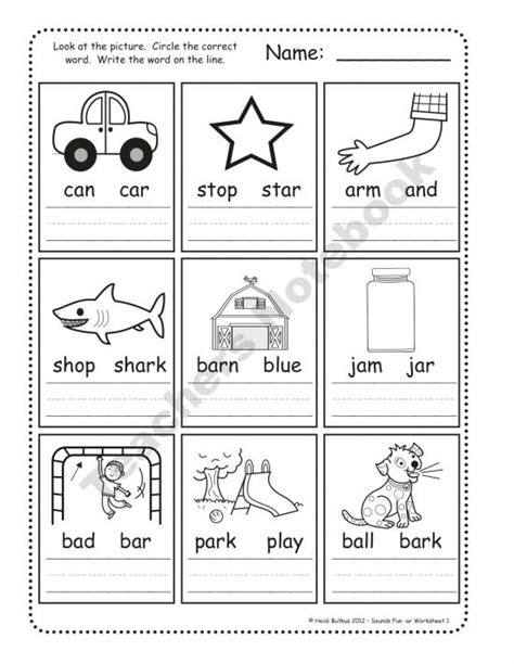 Phonics Worksheets For
