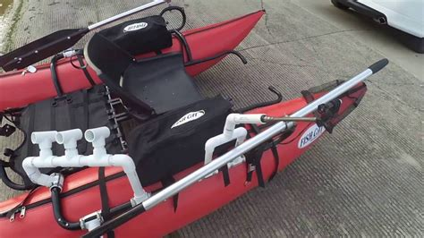 Inflatable Pontoon Boat Modifications by Pvc Based Customizations To My Outcast Fishcat Streamer Xl