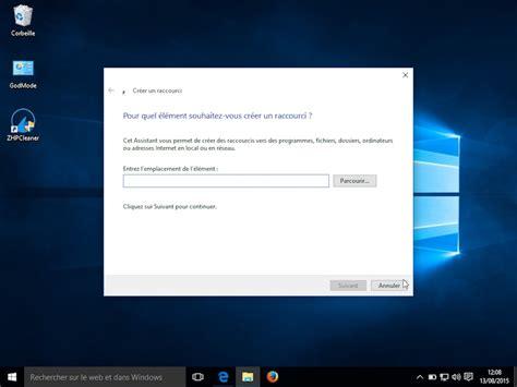cr 233 er un raccourci vers une page directement sur le bureau de windows 10