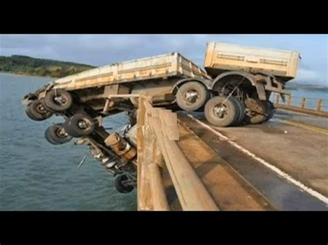 The Open Boat Falling Action by Live Truck Accident In The Water Bridge Youtube