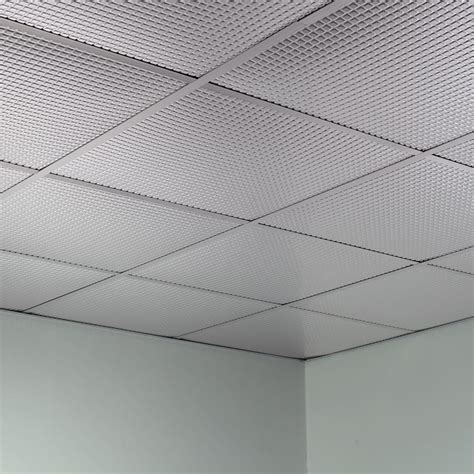 fasade ceiling tile 2x2 suspended square in brushed aluminum