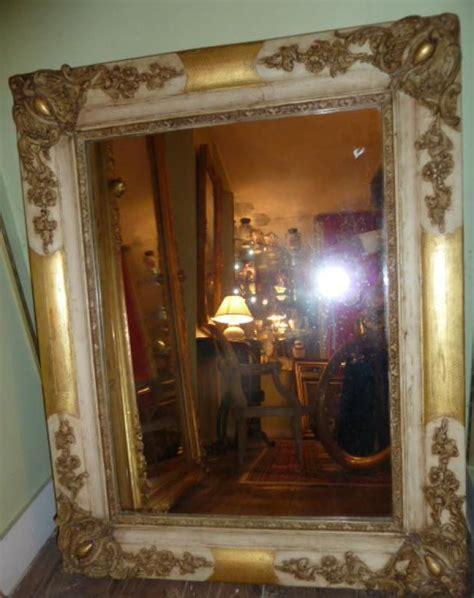 miroir ancien bois peint et dor 233 19 232 me