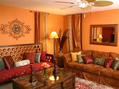 Exotic Orange Living Room With Indian-inspired Daybed Free Kitchen Cabinets Design Software Black Appliances Designs With American Beautiful Island High End Floor Tiles Small Area