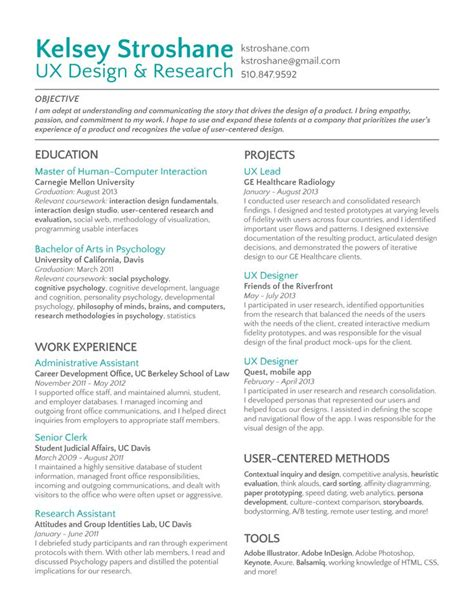 8 Best Ux Designer Resume Images On Pinterest  Resume, Ux