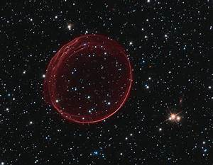 Giant Red Gas Bubble in Space | Outer Space Universe