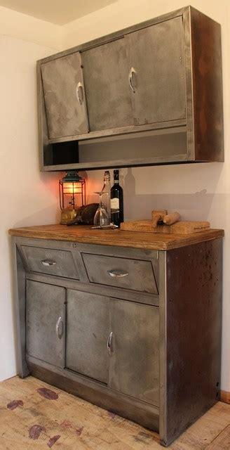 vintage 1950 s stripped metal kitchen cabinets