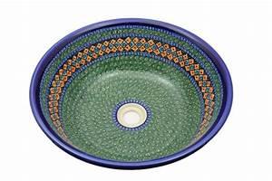 Bemalte Keramik Waschbecken : anitke waschbecken gr n ~ Markanthonyermac.com Haus und Dekorationen