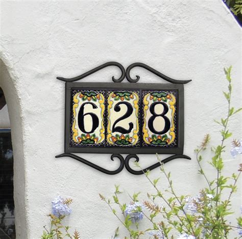 17 best ideas about house number plaques on