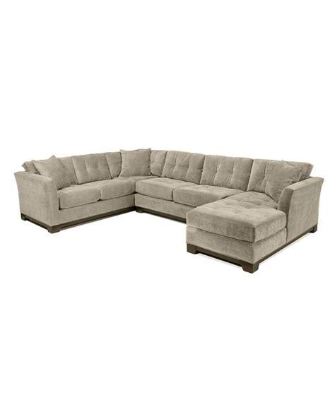 elliot fabric microfiber 3 chaise sectional sofa