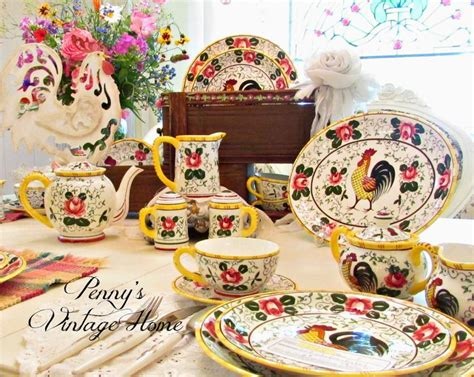 Home Interior Rooster Dishes : 255 Best Py Rooster & Roses Ucago Provincial Images On