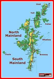 Map of Shetland Islands Province