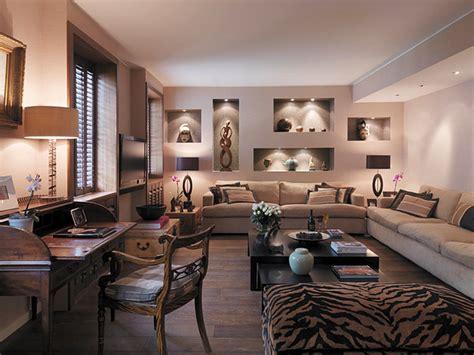 luxurious furnitures design in safari themed living room