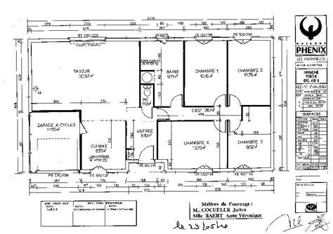 plan interieur maison plain pied