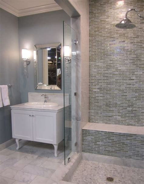35 Blue Gray Bathroom Tile Ideas And Pictures. Galvanized Bar Stools. Professional Interior Design Software. Beautiful Home. Ball Light Fixture. Industrial Hall Tree. Japanese Living Room. Wood Wall Tiles. Raised Table