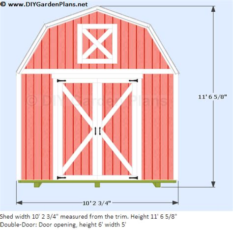 10 x12 gambrel shed