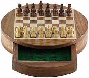 Chess Set Sale 7 Inch Round Chess Set with Drawer ...