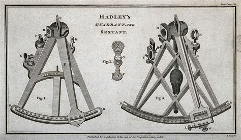 Sextant Quadrant by File Astronomy A Quadrant And A Sextant Engraving
