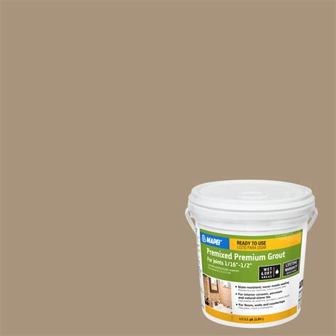 shop mapei 6 9 lb chamois sanded premixed grout at lowes